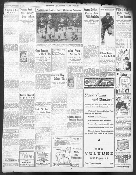 Daily Trojan, Vol. 24, No. 33, October 25, 1932