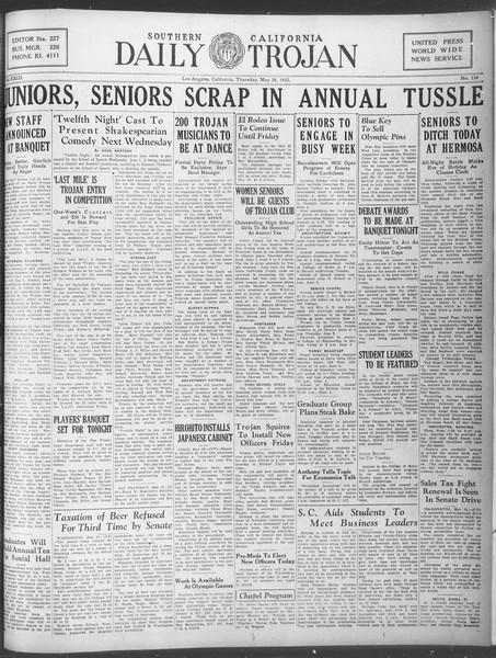 Daily Trojan, Vol. 23, No. 154, May 26, 1932