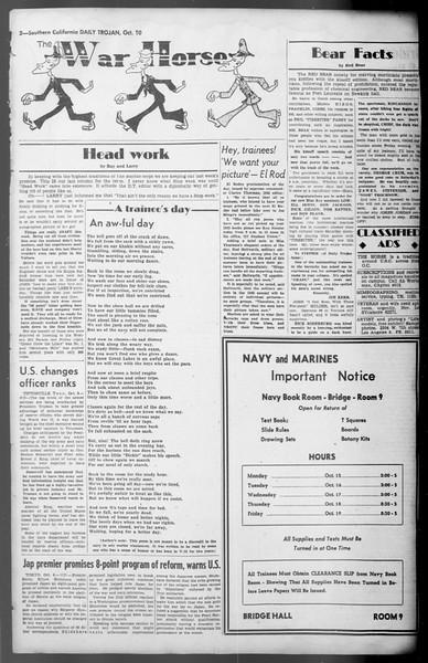 Daily Trojan, Vol. 36, No. 218, October 10, 1945