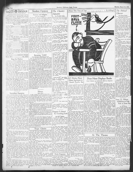 Daily Trojan, Vol. 24, No. 109, March 20, 1933