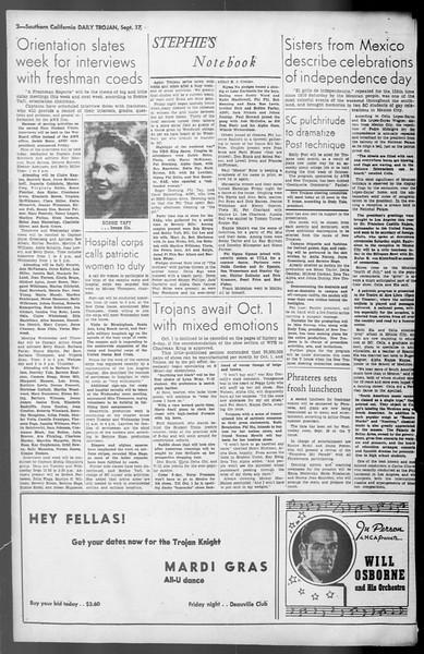 Daily Trojan, Vol. 36, No. 201, September 17, 1945
