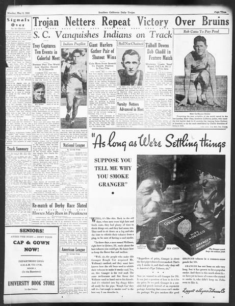 Daily Trojan, Vol. 24, No. 138, May 08, 1933