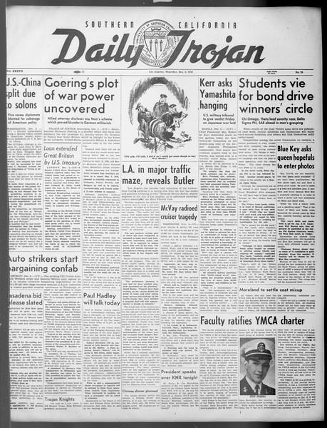 Daily Trojan, Vol. 37, No. 25, December 06, 1945