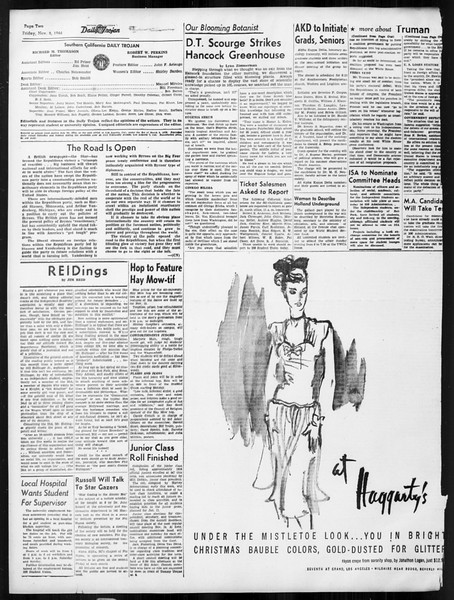 Daily Trojan, Vol. 38, No. 40, November 08, 1946