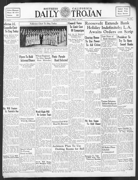 Daily Trojan, Vol. 24, No. 102, March 10, 1933