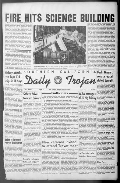 Daily Trojan, Vol. 36, No. 162, July 23, 1945