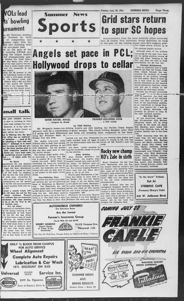 Summer News, Vol. 2, No. 11, July 18, 1947