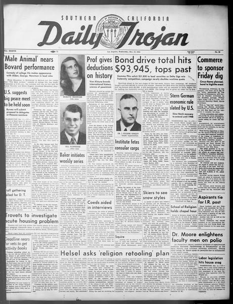 Daily Trojan, Vol. 37, No. 29, December 12, 1945