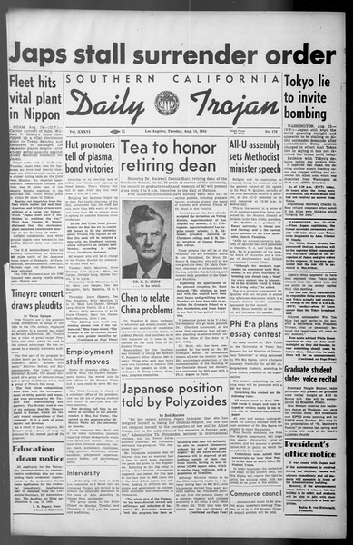 Daily Trojan, Vol. 36, No. 178, August 14, 1945