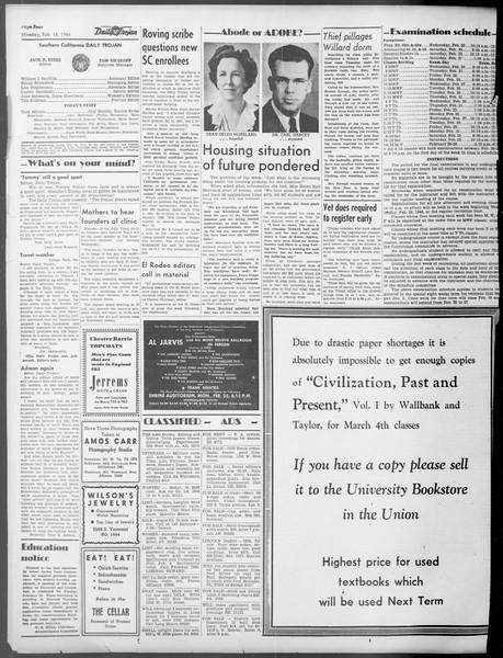 Daily Trojan, Vol. 37, No. 73, February 18, 1946