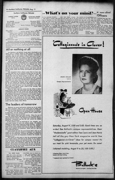 Southern California Trojan, Vol. 35, No. 17, August 11, 1943
