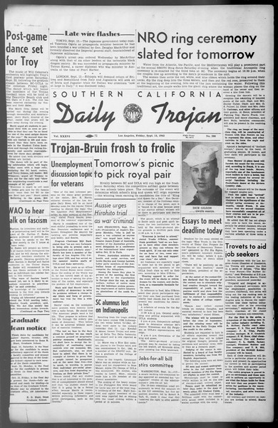 Daily Trojan, Vol. 36, No. 200, September 14, 1945