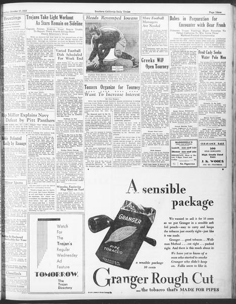 Daily Trojan, Vol. 25, No. 18, October 17, 1933