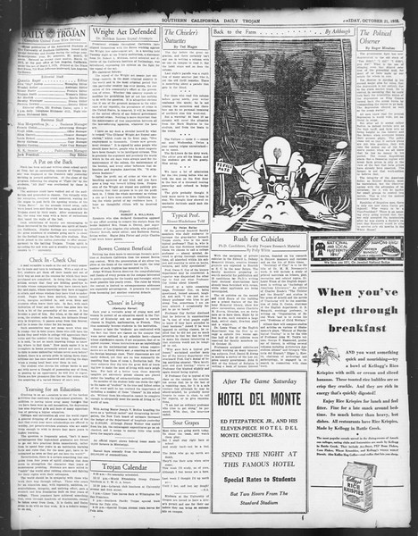 Daily Trojan, Vol. 24, No. 31, October 21, 1932
