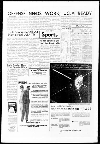 Daily Trojan, Vol. 51, No. 37, November 16, 1959
