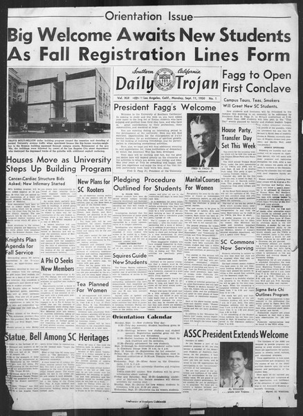 Daily Trojan, Vol. 42, No. 1, September 11, 1950