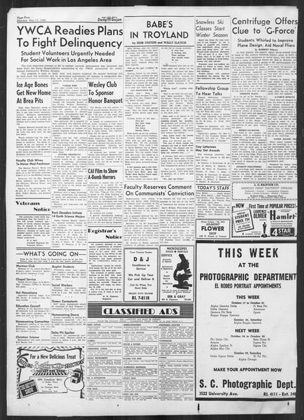 Daily Trojan, Vol. 41, No. 27, October 17, 1949