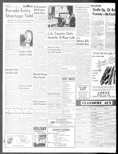 Daily Trojan, Vol. 40, No. 46, November 16, 1948
