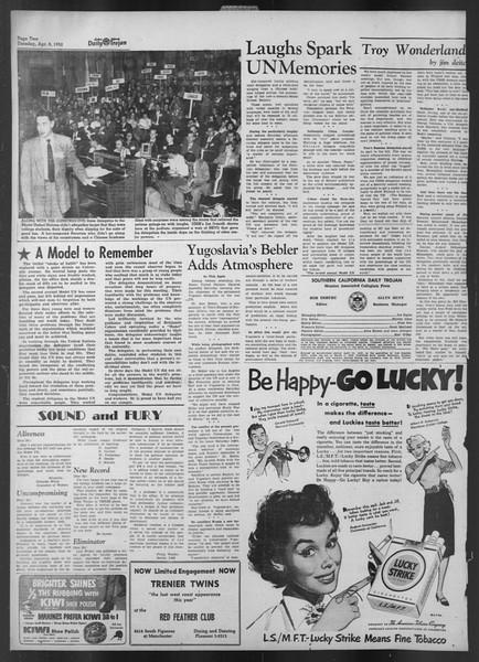 Daily Trojan, Vol. 43, No. 113, April 08, 1952
