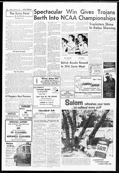 Daily Trojan, Vol. 52, No. 84, March 06, 1961