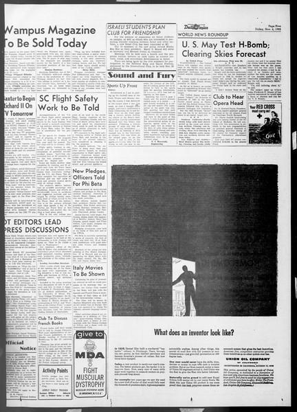 Daily Trojan, Vol. 45, No. 34, November 06, 1953