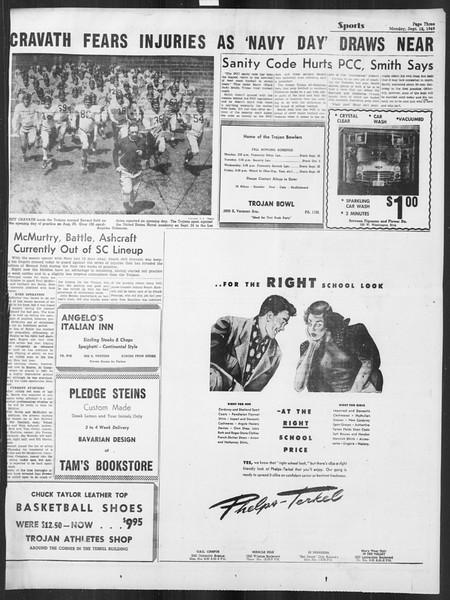 Daily Trojan, Vol. 41, No. 2, September 12, 1949
