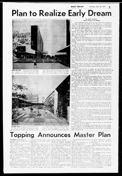 Daily Trojan, Vol. 52, No. 125, May 18, 1961