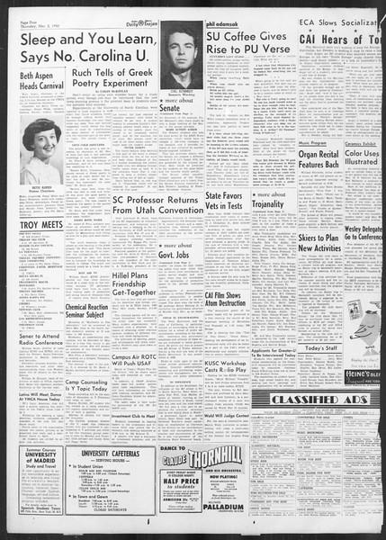 Daily Trojan, Vol. 41, No. 86, March 02, 1950