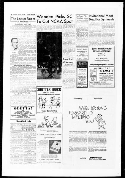 Daily Trojan, Vol. 51, No. 71, February 24, 1960