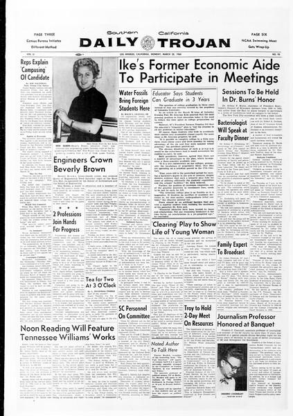 Daily Trojan, Vol. 51, No. 95, March 28, 1960