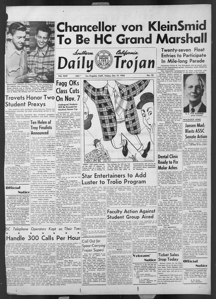 Daily Trojan, Vol. 44, No. 25, October 17, 1952