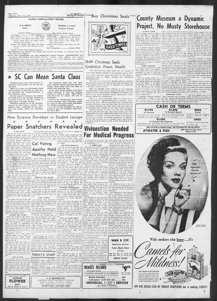 Daily Trojan, Vol. 41, No. 46, November 14, 1949