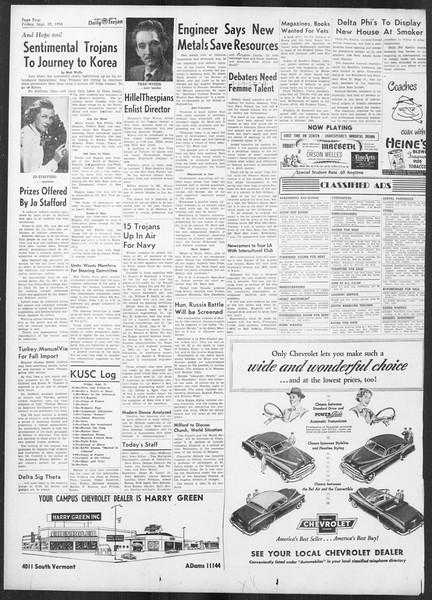 Daily Trojan, Vol. 42, No. 10, September 29, 1950