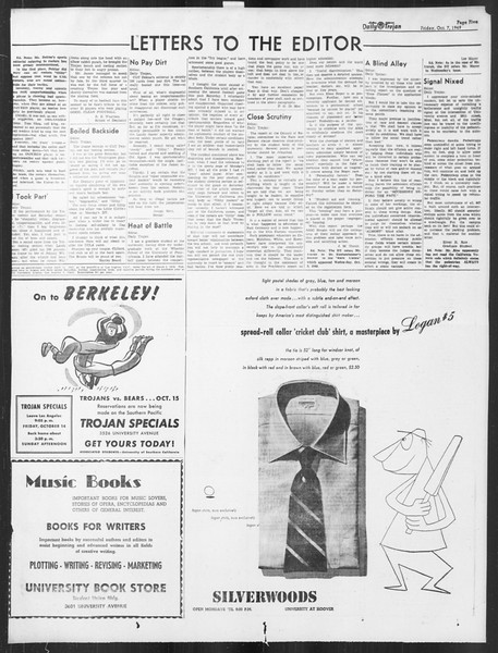 Daily Trojan, Vol. 41, No. 21, October 07, 1949