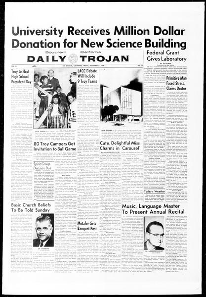 Daily Trojan, Vol. 51, No. 32, November 06, 1959