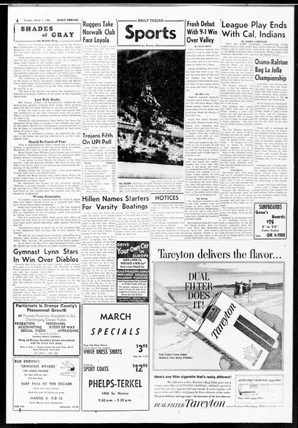Daily Trojan, Vol. 52, No. 85, March 07, 1961