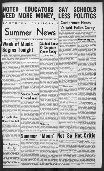 Summer News, Vol. 4, No. 13, July 25, 1949