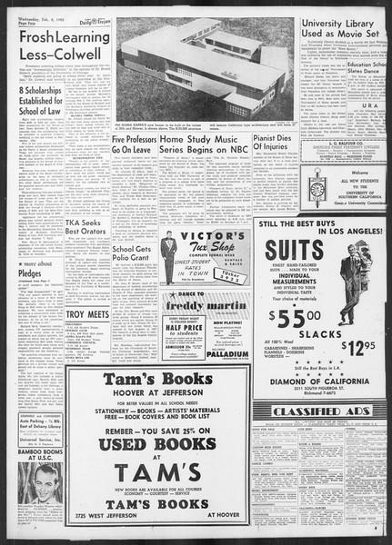 Daily Trojan, Vol. 41, No. 71, February 08, 1950