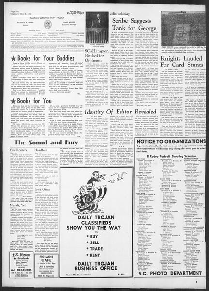 Daily Trojan, Vol. 42, No. 14, October 05, 1950