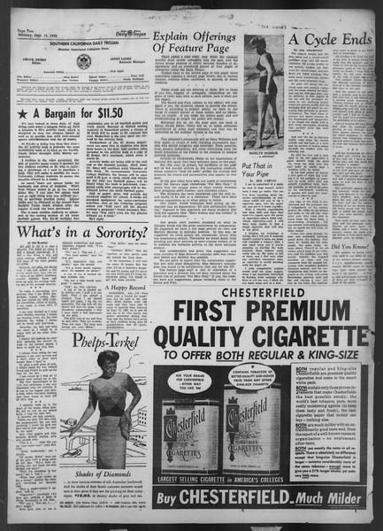 Daily Trojan, Vol. 44, No. 1, September 15, 1952