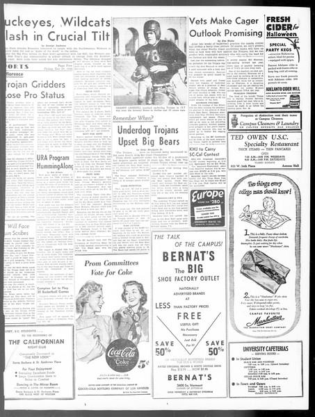 Daily Trojan, Vol. 40, No. 35, October 29, 1948