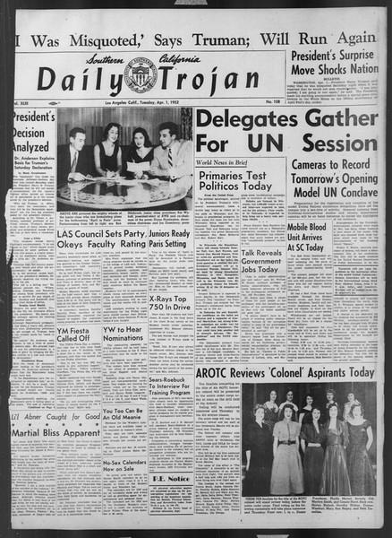 Daily Trojan, Vol. 43, No. 108, April 01, 1952