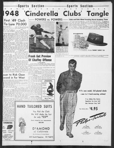 Daily Trojan, Vol. 41, No. 11, September 23, 1949