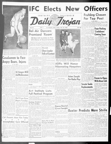 Daily Trojan, Vol. 40, No. 86, February 25, 1949