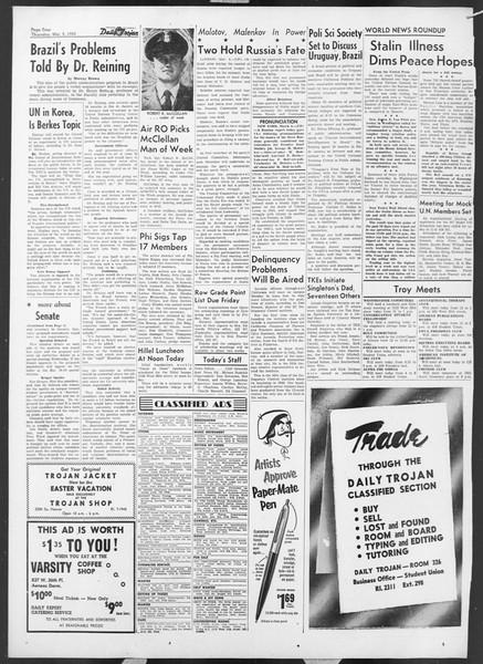 Daily Trojan, Vol. 44, No. 88, March 05, 1953