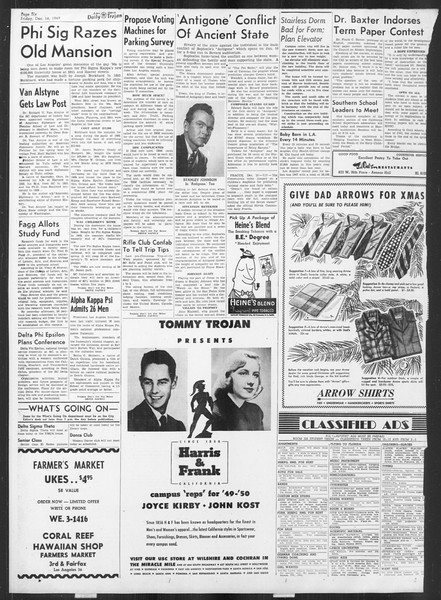 Daily Trojan, Vol. 41, No. 68, December 16, 1949