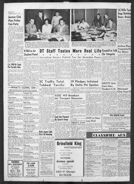 Daily Trojan, Vol. 41, No. 60, December 06, 1949