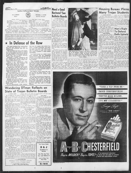 Daily Trojan, Vol. 41, No. 17, October 03, 1949