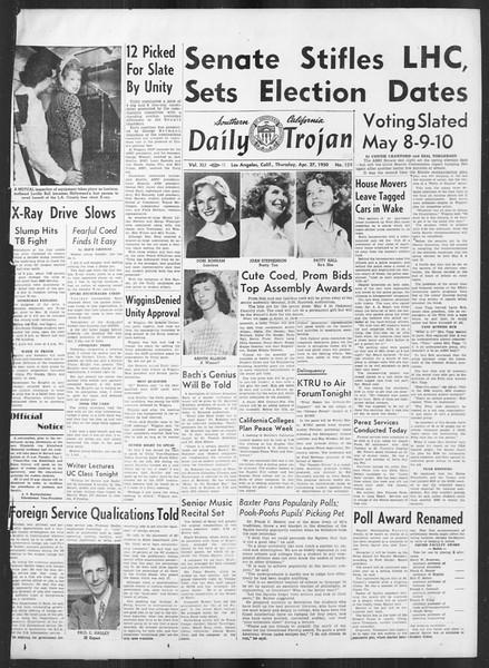 Daily Trojan, Vol. 41, No. 124, April 27, 1950