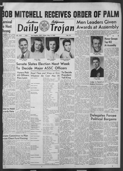 Daily Trojan, Vol. 43, No. 131, May 09, 1952